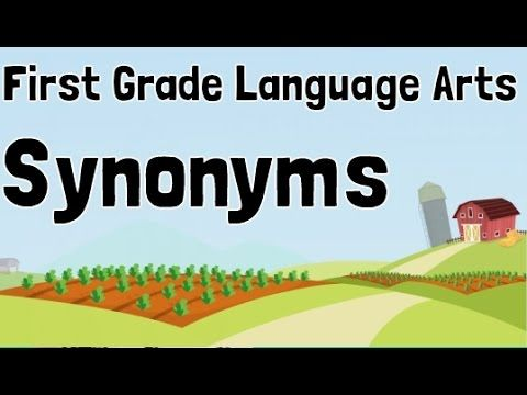 Synonyms First Grade Language Arts Learning Lesson Videos