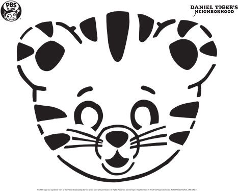 Daniel Tiger Pumpkin Carving Template  Happy Halloween  Pbs