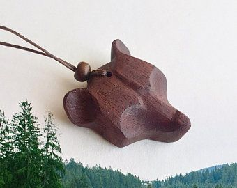 Photo of Wolf necklace wolf pendant wooden pendant wolf jewelry norse jewelry viking celtic jewelry nordic wolf charm animal jewelry wooden necklace