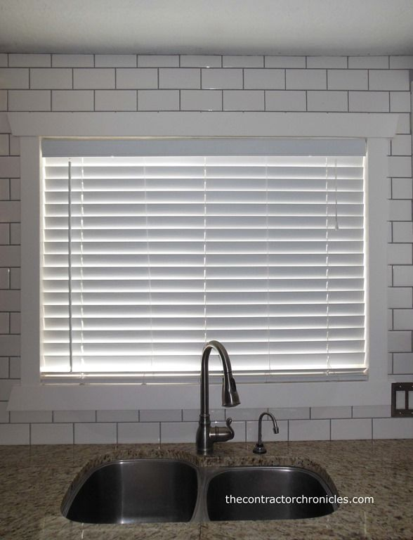 White Subway Tile Backsplash Links On Page For How To Put Up A