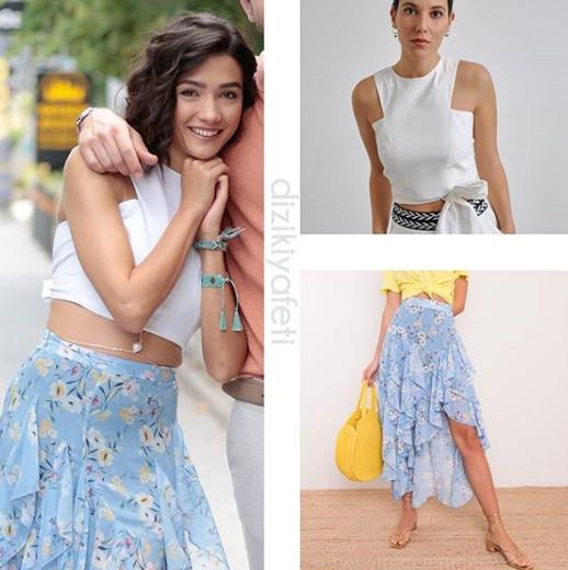 Her Yerde Sen 7 Bolumde Giyilen Kiyafetler Son Bolumde Selin Ne Giydi Tv Dizi Kiyafetleri Moda Stilleri Kiyafet Kiyafet Yaz