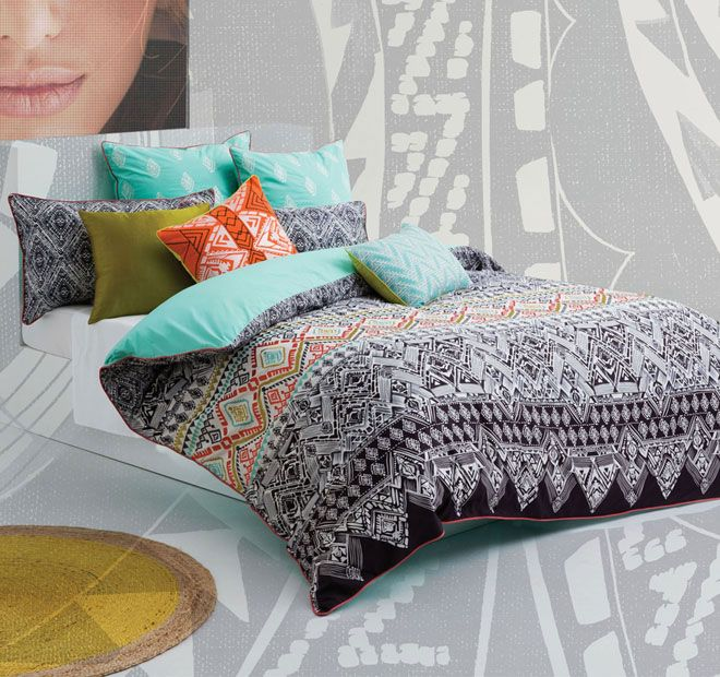 Kas Makena Quilt Cover Set Range Multi Quilt Cover Sets Quilt Cover Bed Quilt Cover
