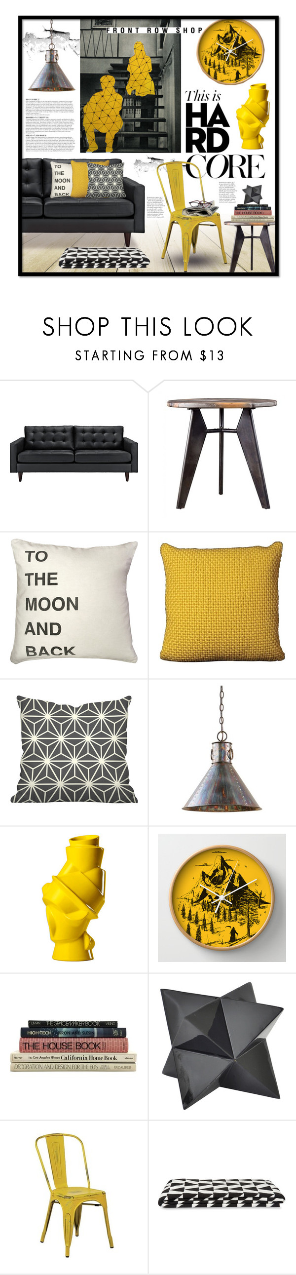 """Hard Core"" by ellergy ❤ liked on Polyvore featuring interior, interiors, interior design, home, home decor, interior decorating, Anja, Steel 