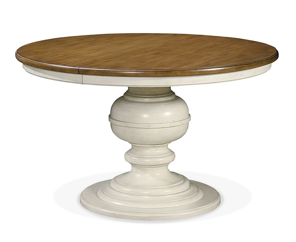 Universal Furniture Summer Hill Two Tone Round Pedestal Dining Table