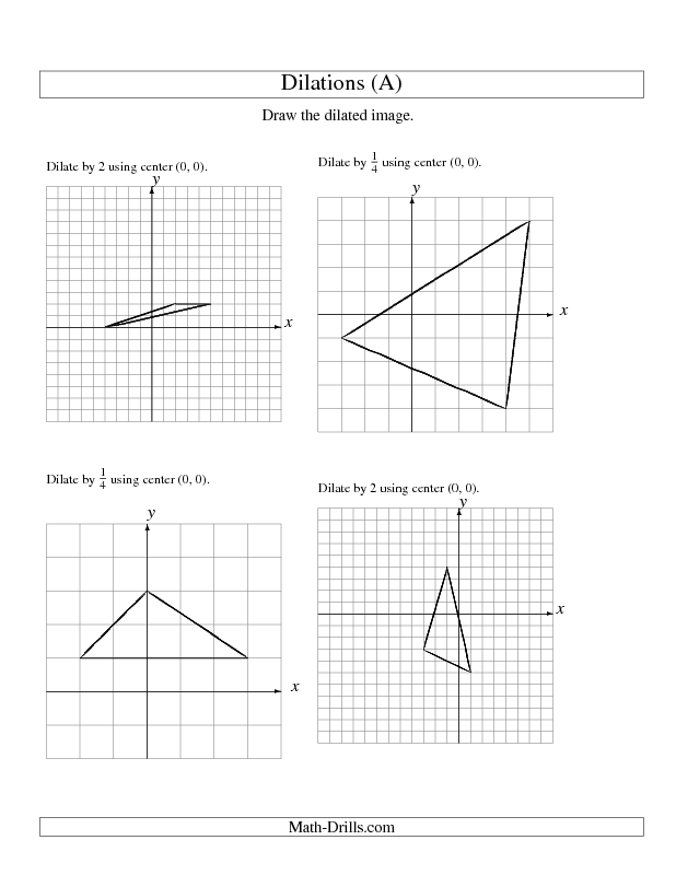 New 20121130 Geometry Worksheet Dilations Using Center 0 0 – Geometry Worksheets High School