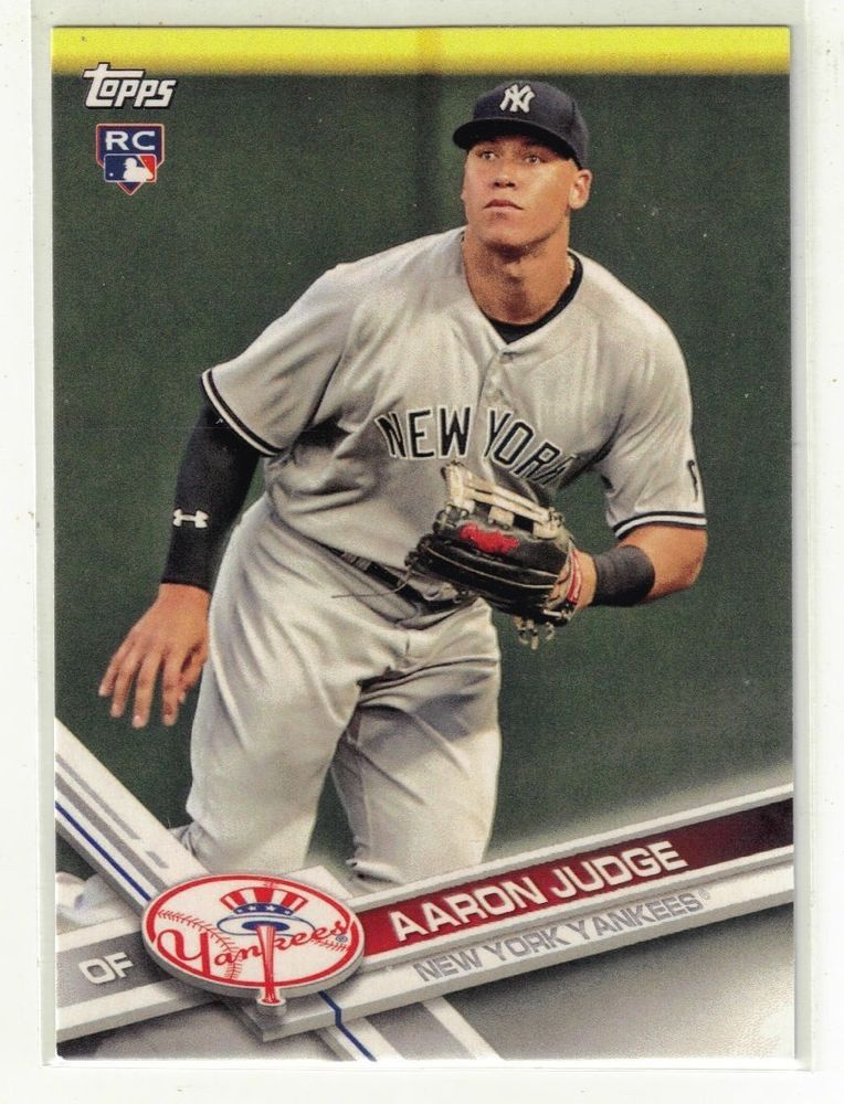Details About 2017 Topps Aaron Judge Rookie Card Team Set