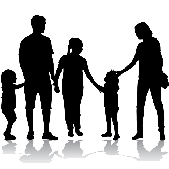 Family Illustration Silhouette Of A Happy Family Png Download 555 555 Free Transparent Family Png Downlo Family Illustration Silhouette Family Silhouette