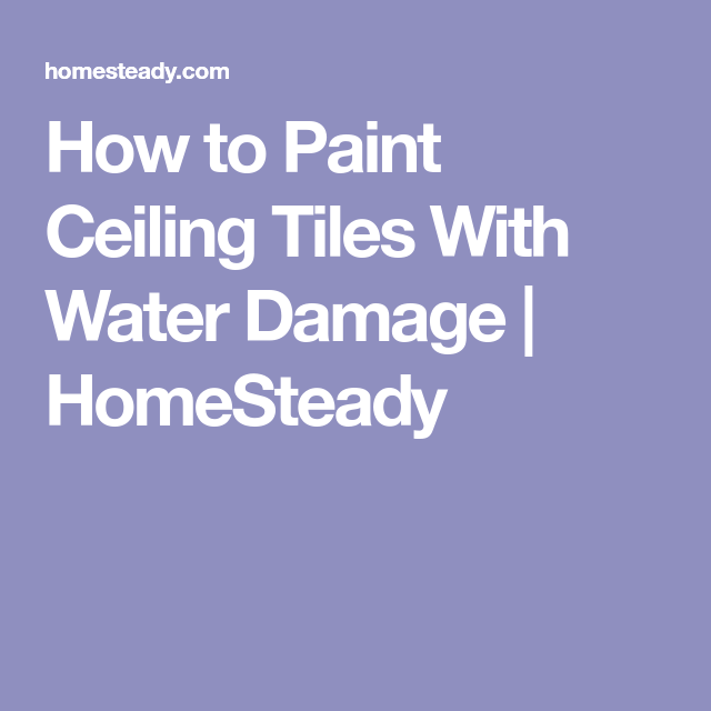 How To Paint Ceiling Tiles With Water Damage Homesteady Painted Ceiling Ceiling Tiles Tile Stained