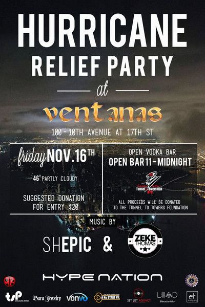 NYC Locals Get Together For Sandy Relief // Hype Nation teams up for hurricane relief party