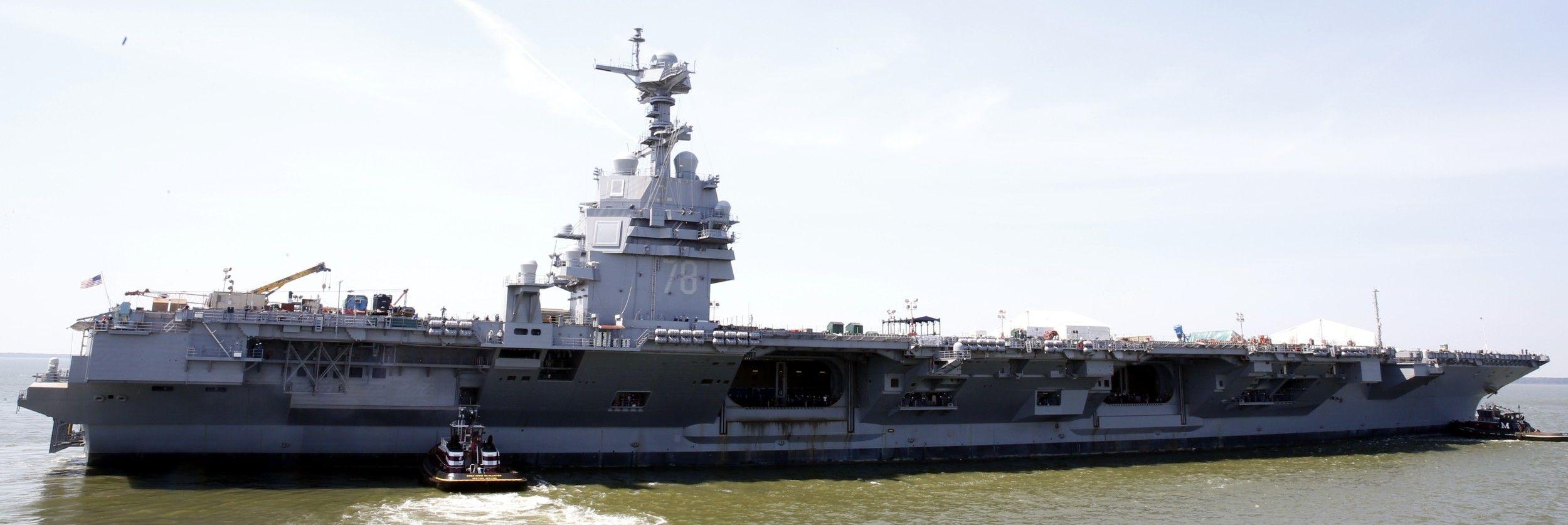 Cvn 78 Uss Gerald R Ford Aircraft Carrier Us Navy Newport News Shipbuilding 2016 25 Aircraft Carrier Ford Aircraft Carrier Uss Ford