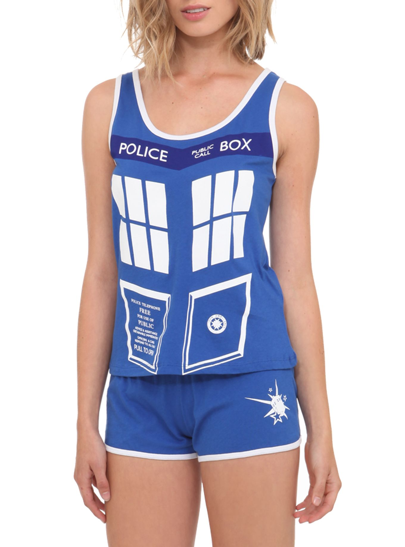 Doctor Who TARDIS Pajamas ~these are actually super cute. want.  Jamie Wise  Moore i totally need new pajamas right 384da83d4