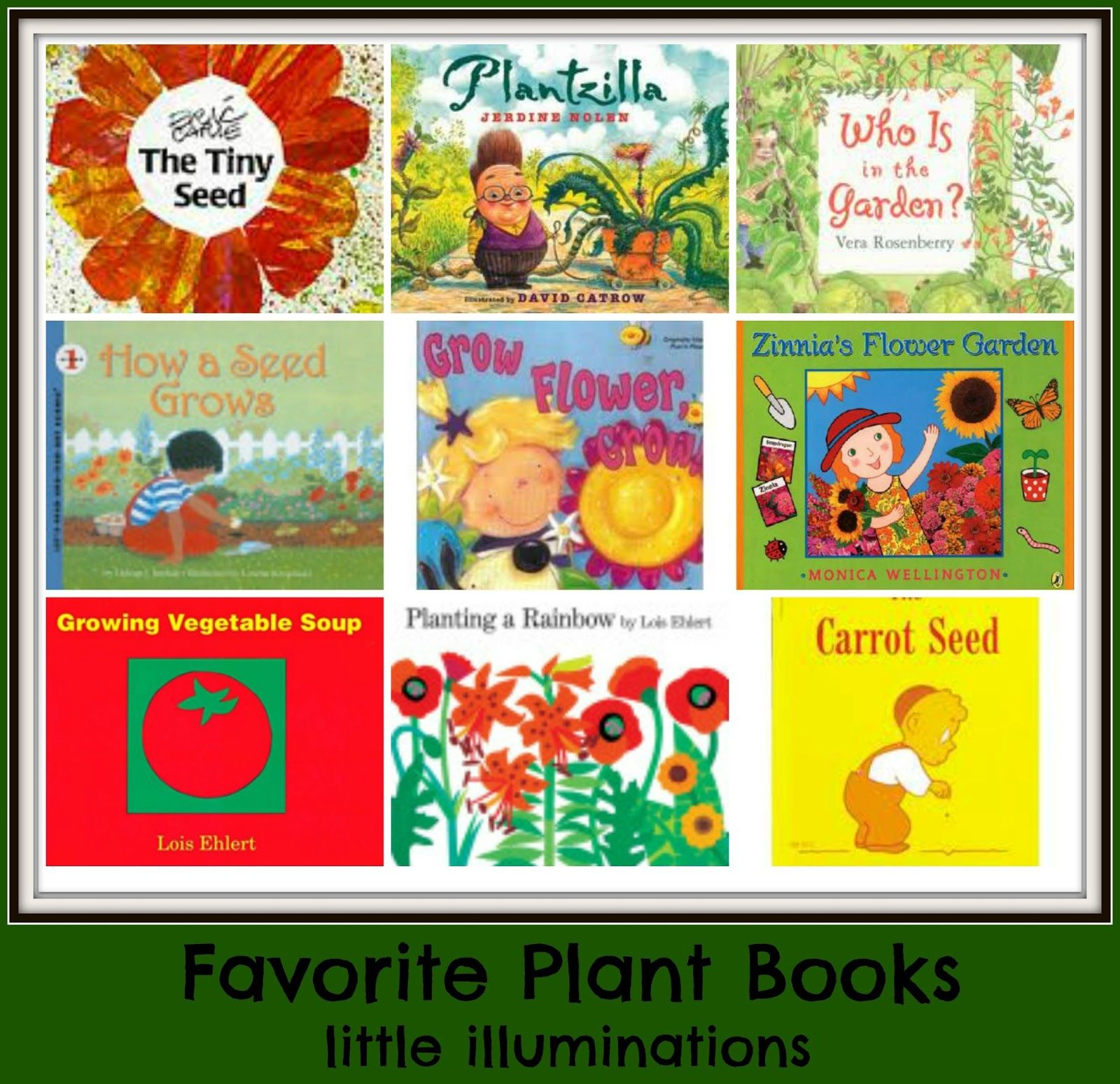 Books About Plants Gardening For Kids Pic Only