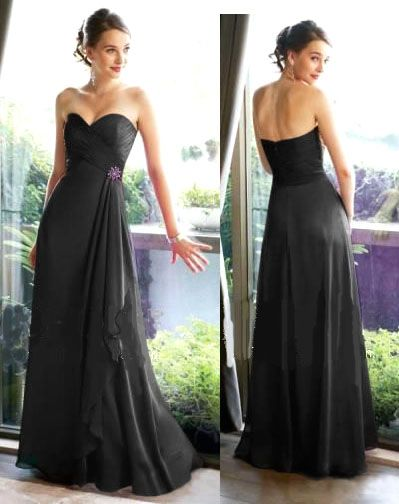 Long black evening dress size 8