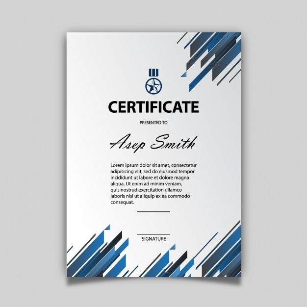 Elegant certificate template Free Vector Templates free - certificate designs free
