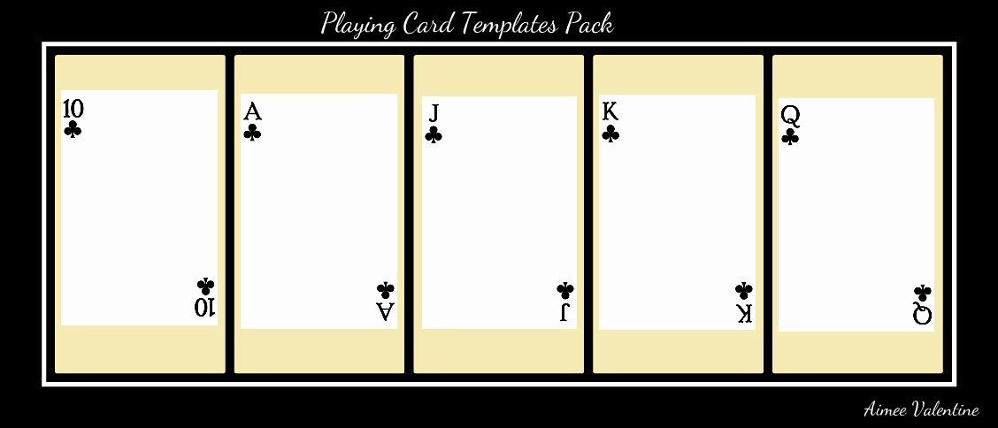 Blank Playing Card Template Best Of Best S Of Playing Card Templates For Word Playing Card Templates Printable Card Template Blank Playing Cards