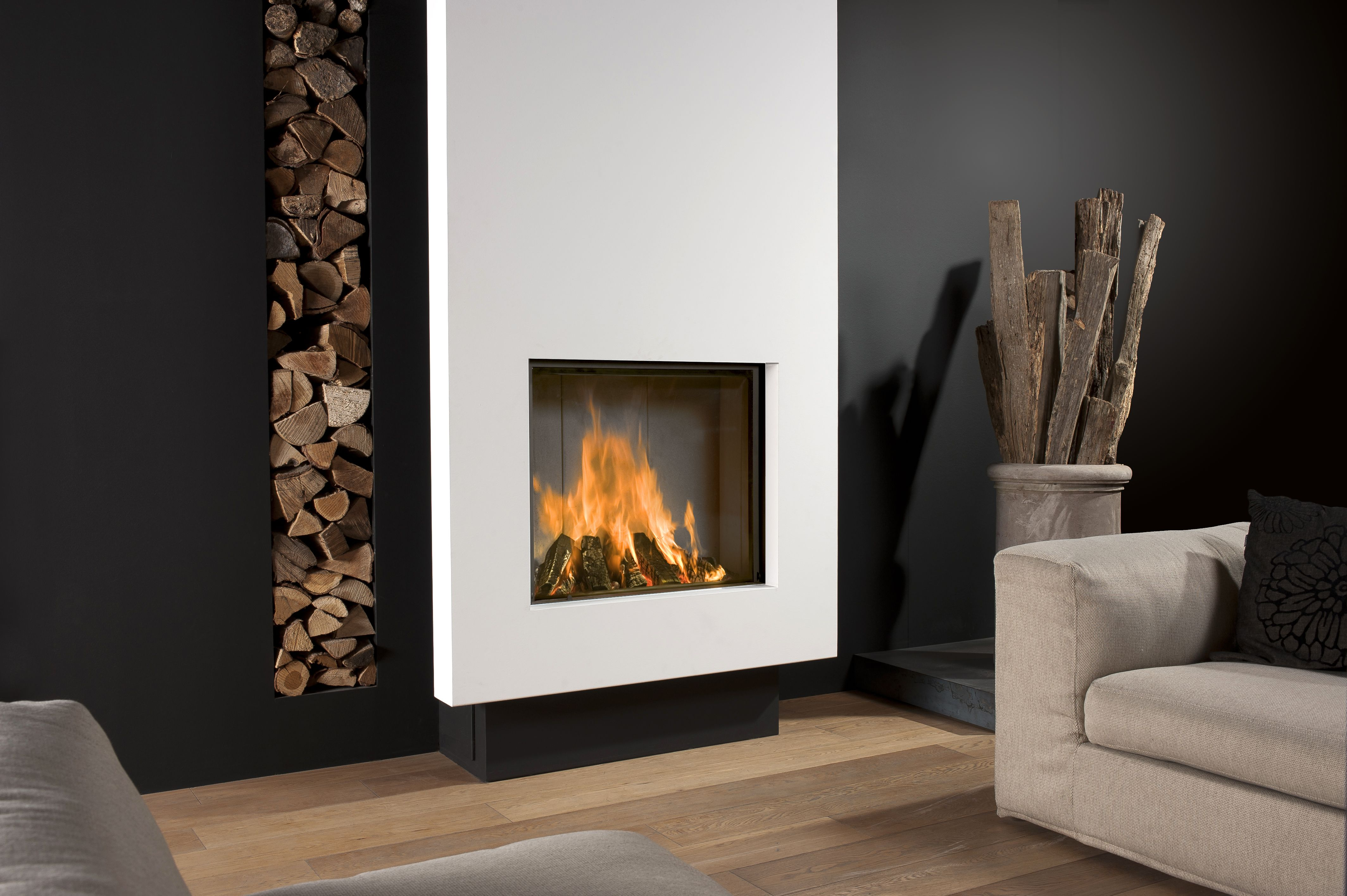 Product information for the Derby Large 3 Urban Fireplace.
