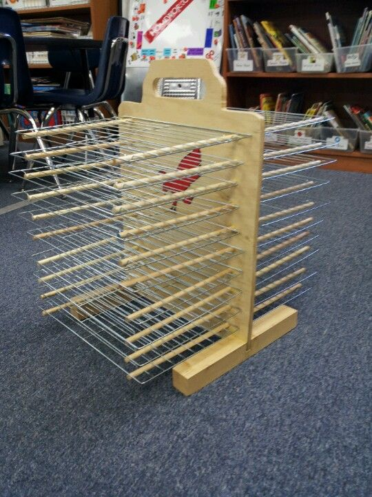 Drying Rack For My Classroom That My Mom Made She Rocks Art
