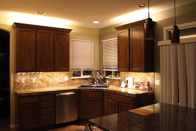 lighting in kitchen cabinet | SMD 3528 LED Strip Lights - Kitchen ...