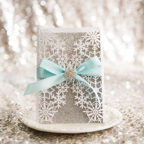 Winter Laser Cut – Frozen Laser Cut – Snowflake Laser Cut – Christmas Laser Cut – Wedding Invitation – Party Invitation – Winter Wedding