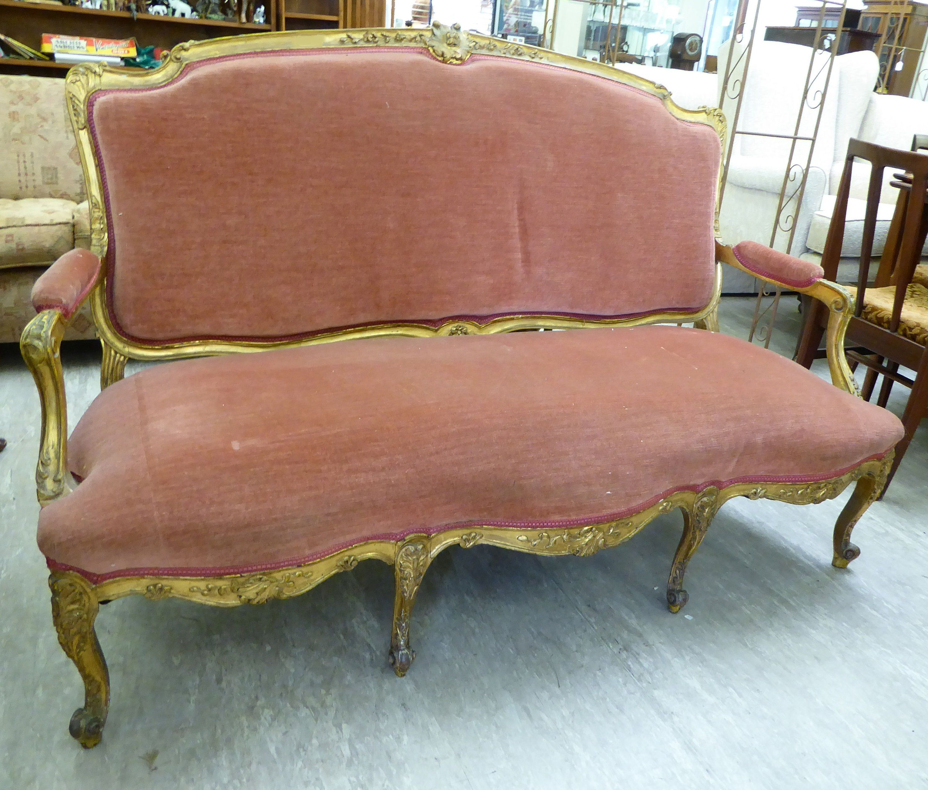 Admirable French Antique Louis Xv Style Upholstered Carved Gilt Salon Machost Co Dining Chair Design Ideas Machostcouk