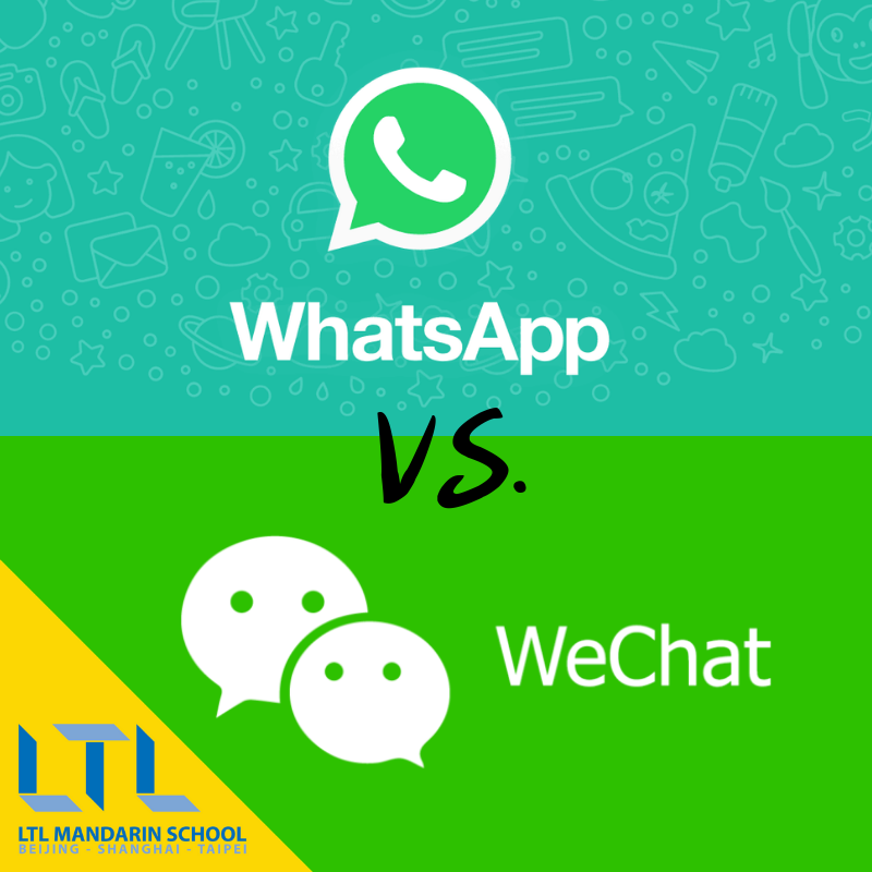 The great debate! Which do you prefer? #whatsapp #wechat
