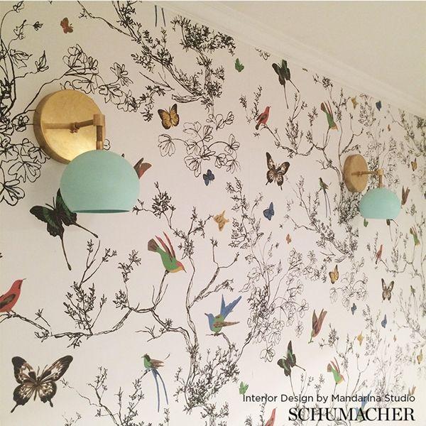 Schumacher Birds & Butterflies Butterfly wallpaper