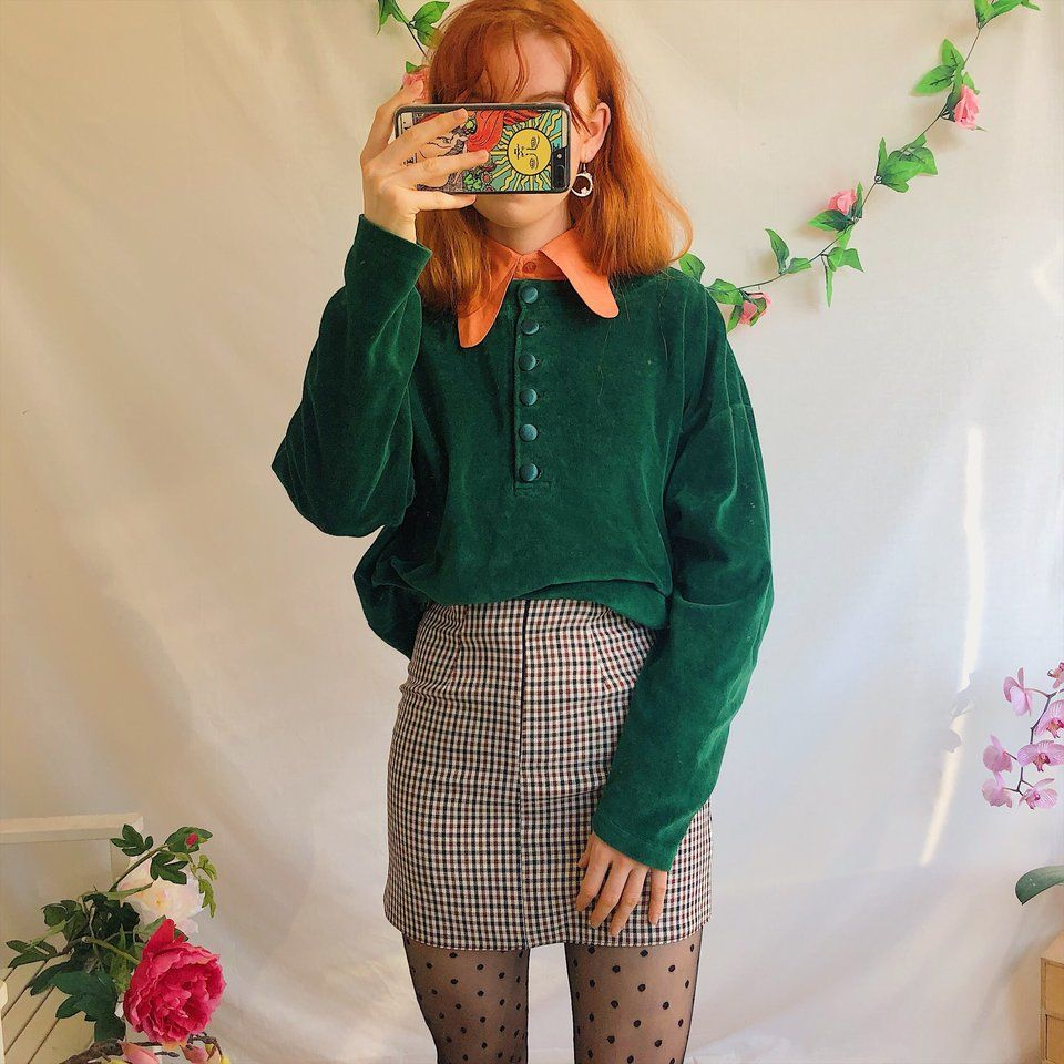95d392c9c Listed on Depop by mathildamai in 2019 | Retro 2019 | Emerald green ...