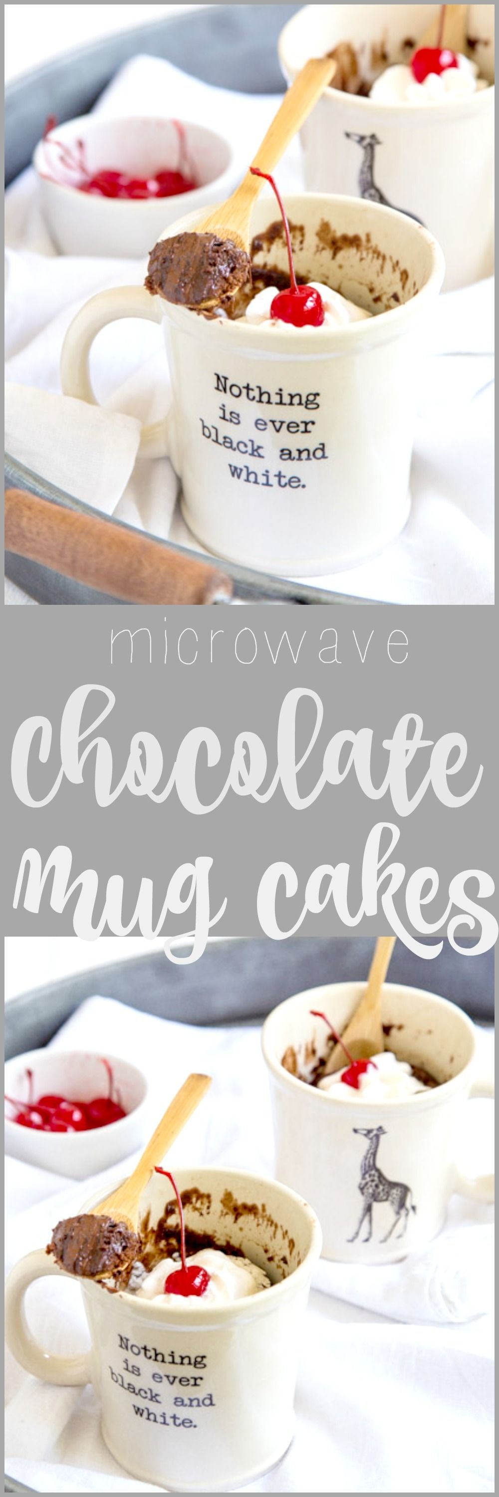 The BEST recipe for microwave chocolate mug cakes. You don't really need…