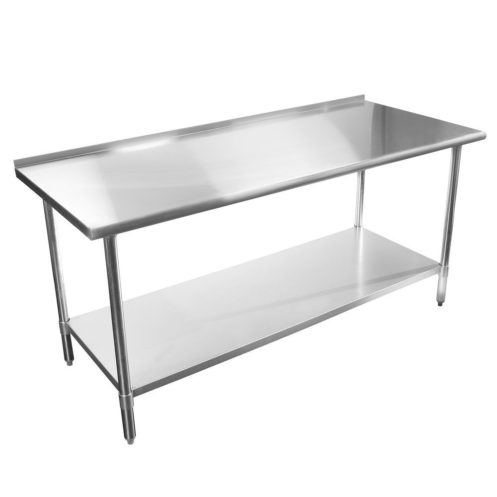 stainless steel kitchen restaurant work prep table 24 x 48 backsplash 48 24 nsf stainless steel kitchen restaurant work prep table 24 x 48      rh   pinterest com