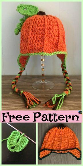 8 Cutest Crochet Pumpkin Hat Free Patterns Crochet Ideas