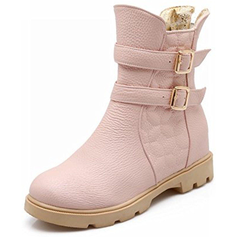 Women's Fashion Sweet Cute Adorable Lolita Style Lovely Zipper Buckles Low Heel Dress Boots