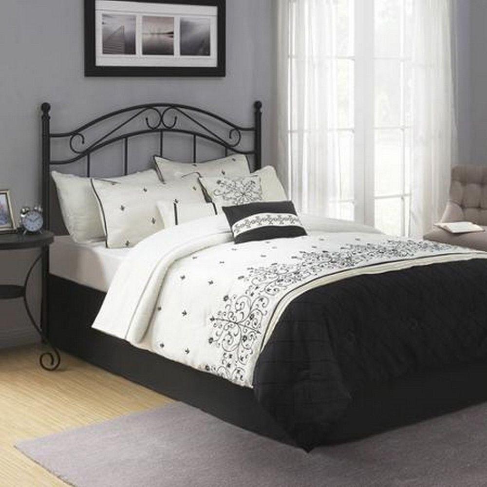 Best Traditional Metal Black Full Queen Size Headboard Bed 400 x 300