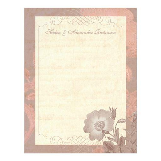 Vintage Rose Stationery - Wedding Thank You Notes! Botanical