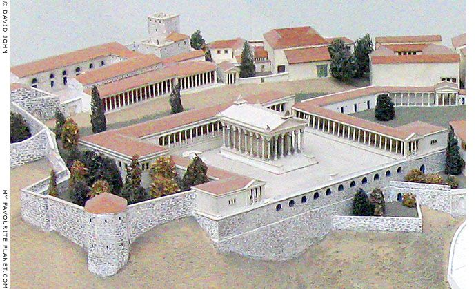 Model Of The Temple Of Trajan On The Pergamon Acropolis In The Pergamon Museum Berlin At My Favourite Planet Pergamon Pergamon Museum Architecture
