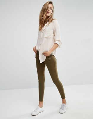Stage 1 £25.50 Abercrombie olive cropped trousers
