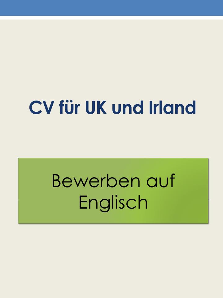 Bewerben Auf Englisch Was Gehort In Einen Englischen Lebenslauf