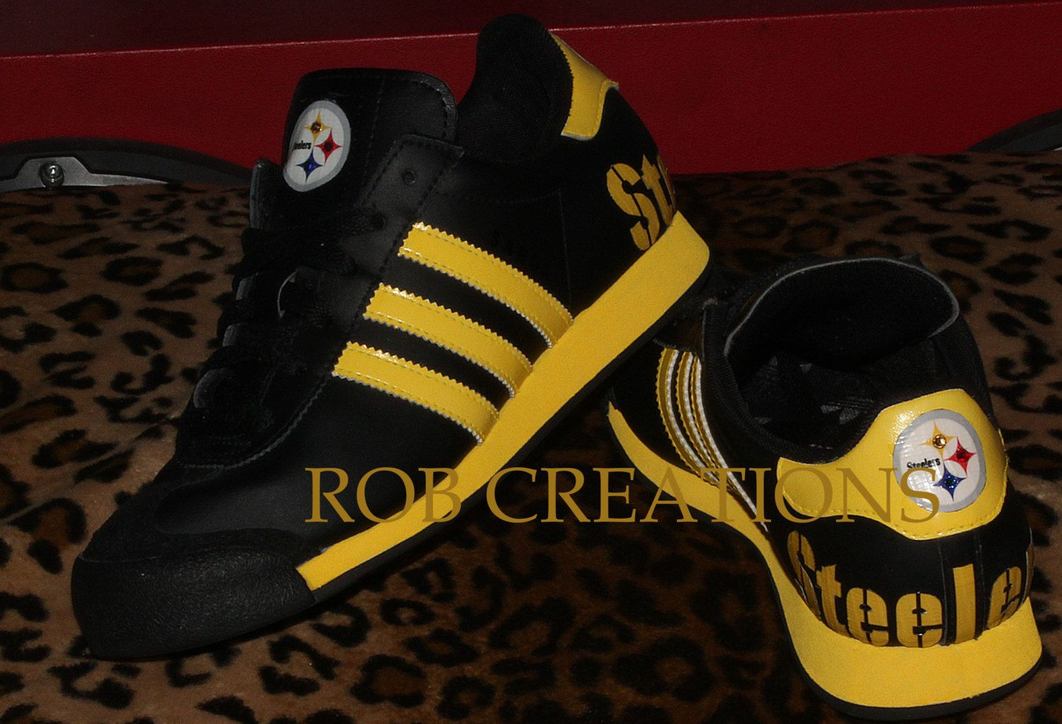 Custom Adidas Pittsburgh Steelers shoe designed on a Pre-owned  platform(size6 women) by ROBcreations on Etsy 3fe6f36568