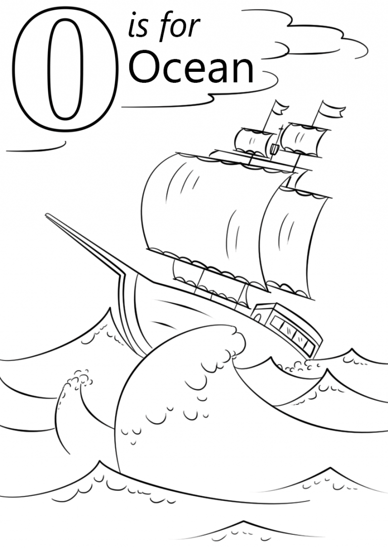 Free Printable Ocean Coloring Pages For Kids Ocean Coloring Pages Alphabet Coloring Pages Letter O Crafts