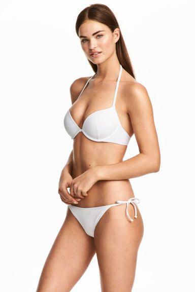 72e05a98152429 Tie-tanga bikini bottoms - White - Ladies | H&M GB | Bikini ...