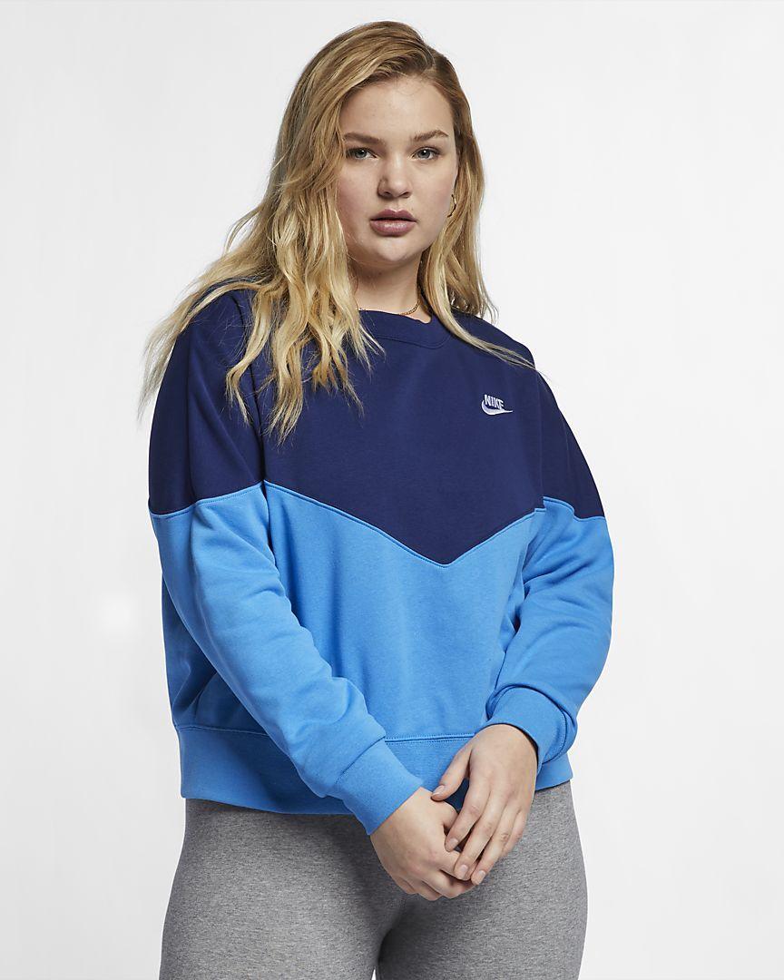 2b3af92f Nike Women's Fleece Crew (Plus Size Sportswear Heritage in 2019 ...