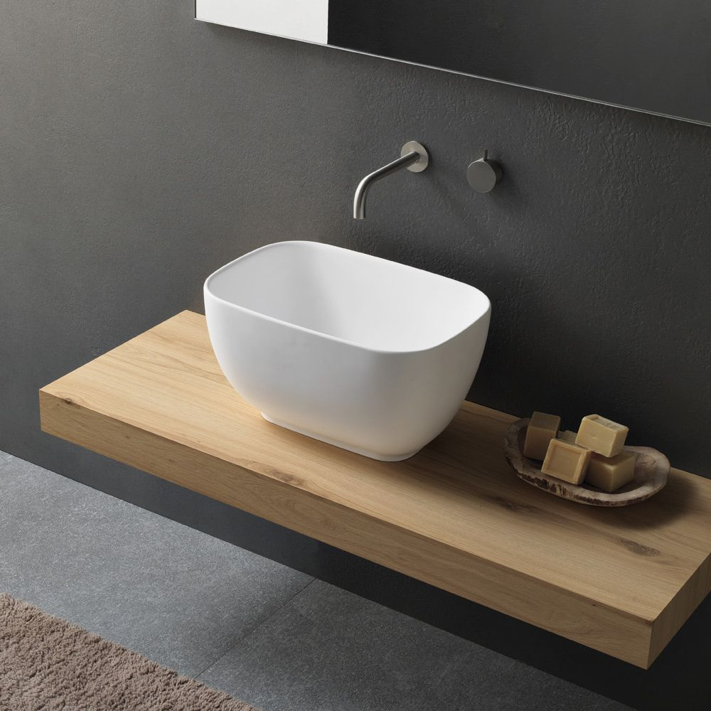 lavabo da appoggio dal design moderno novello made in italy