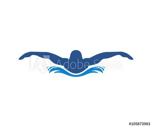swimming logo pinterest royalty free images rh pinterest co uk swimmer logo vector swimmer logo vector