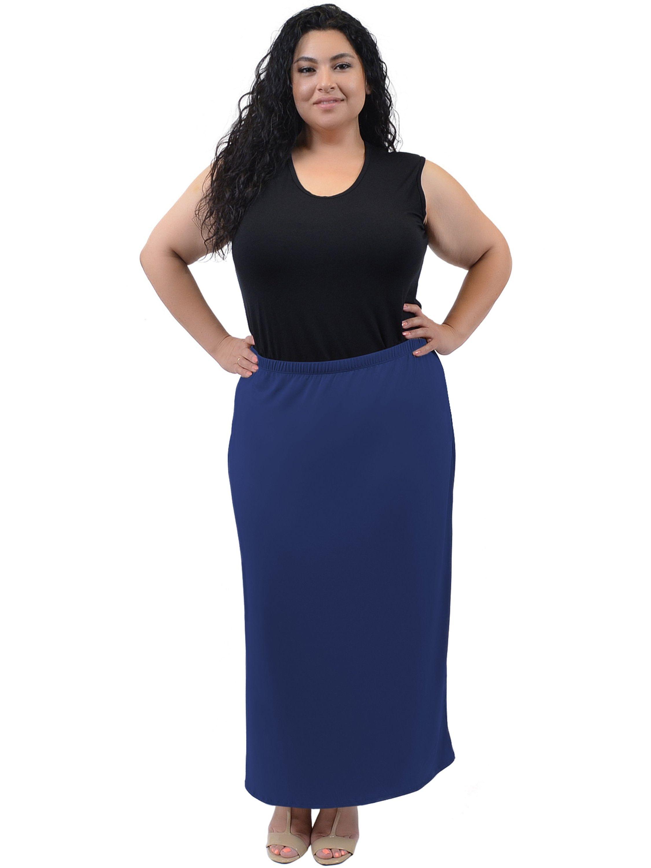 b6d0694439 Plus Size Long Tube Skirt - X-Large (12-14) / Navy Blue#Tube, #Skirt, #Size
