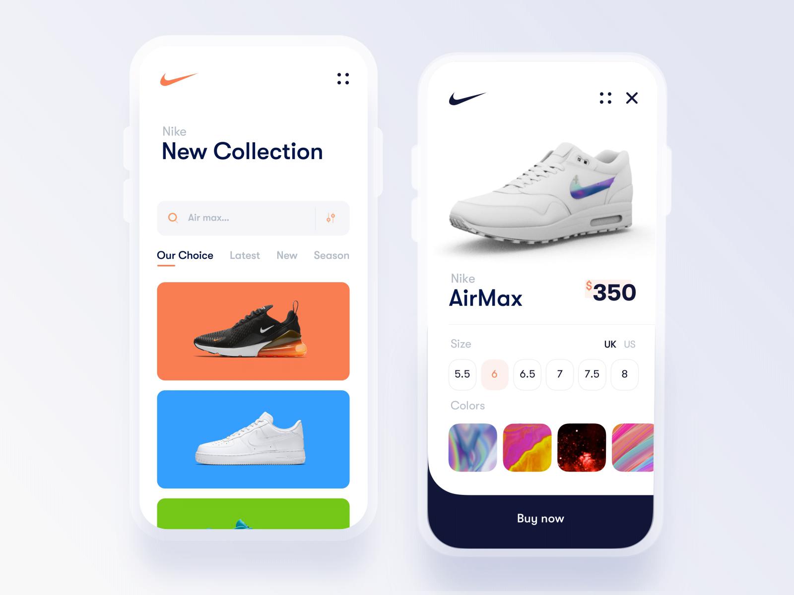 Nike Store 3D interaction by Ayoub kada