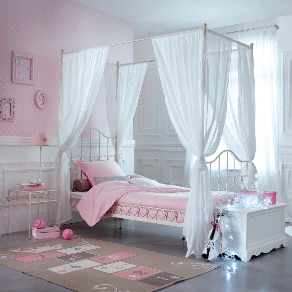 Tappeto grigio e rosa in cotone per bambini con gioco di