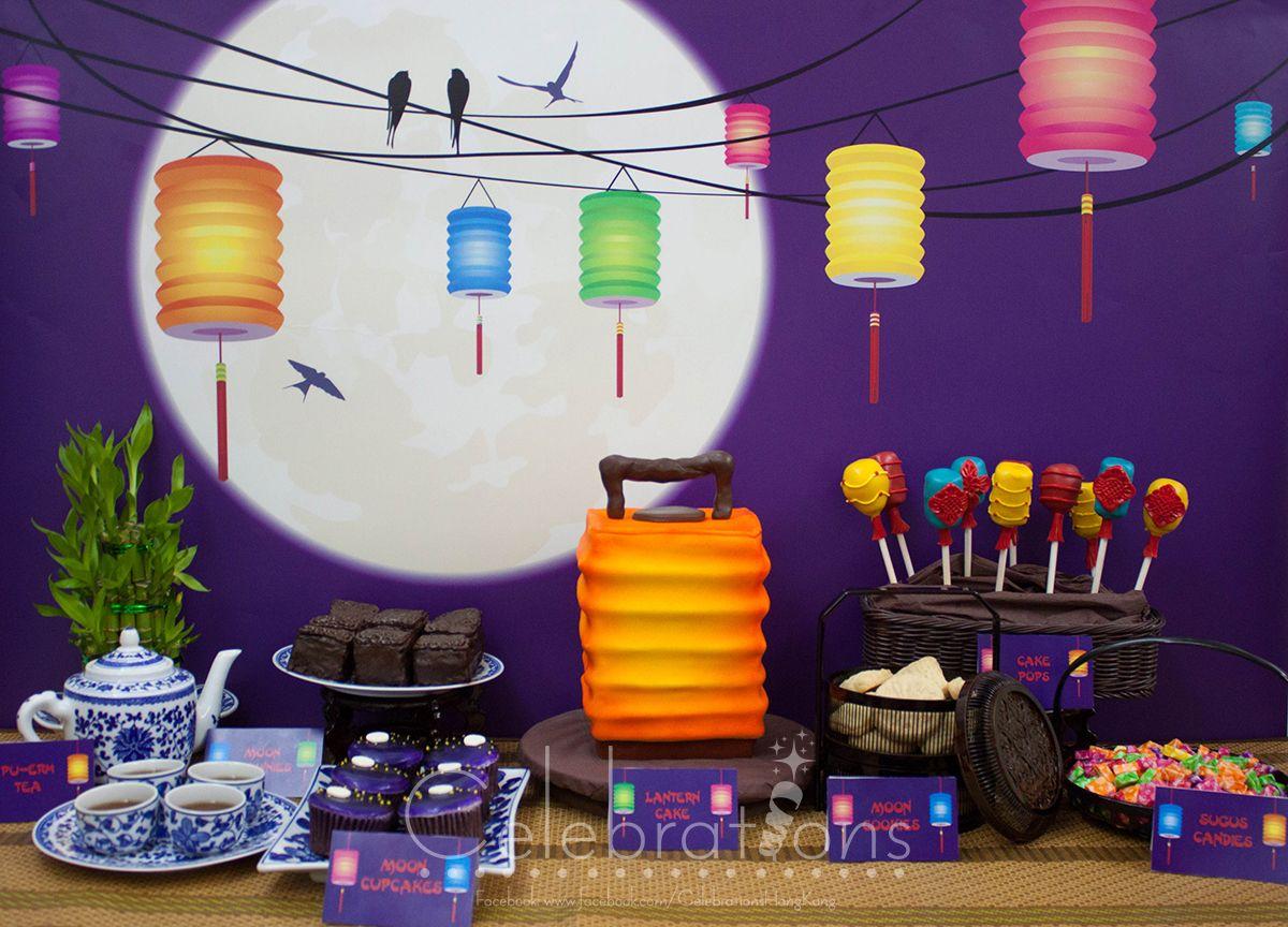 MidAutumn festival dessert table, also known as lantern