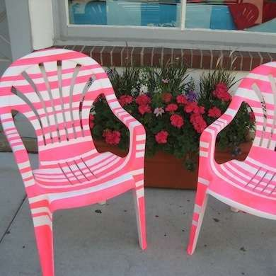 Dipingere Sedie Di Plastica.Use Painters Tape To Create Stripes On Plastic Lawn Furniture