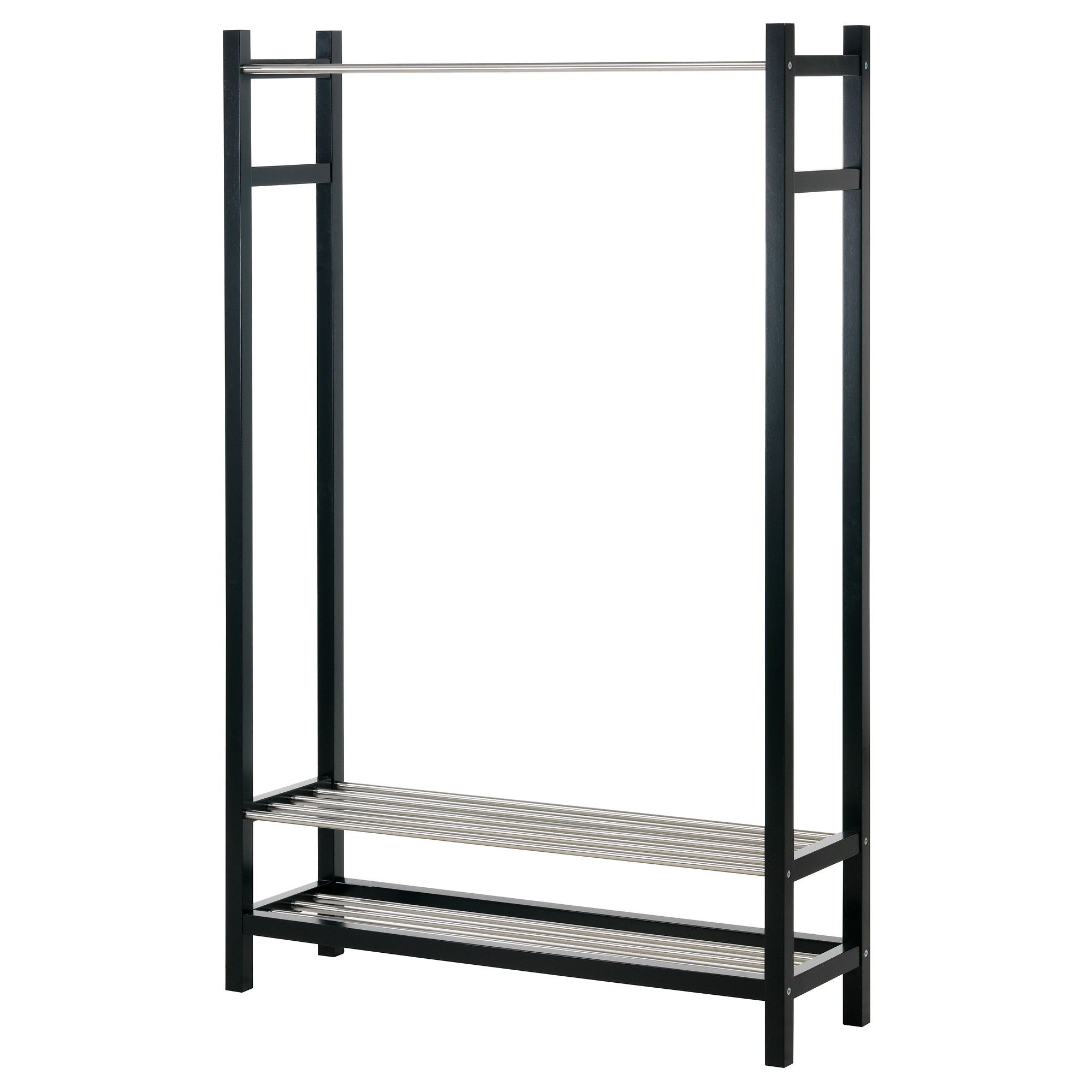Tjusig Clothes Shoe Rack Black Ikea