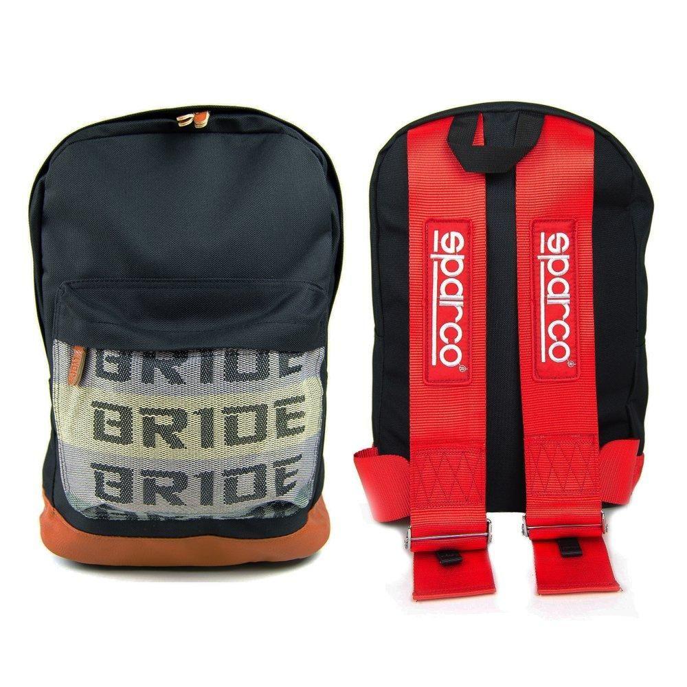 JDM Bride Racing Backpack With SUPREME Racing Harness Shoulder BLUE straps