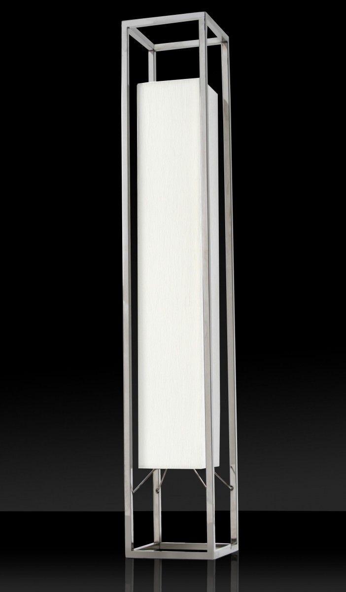 finebuy design standlampe stehlampe h125cm weiß